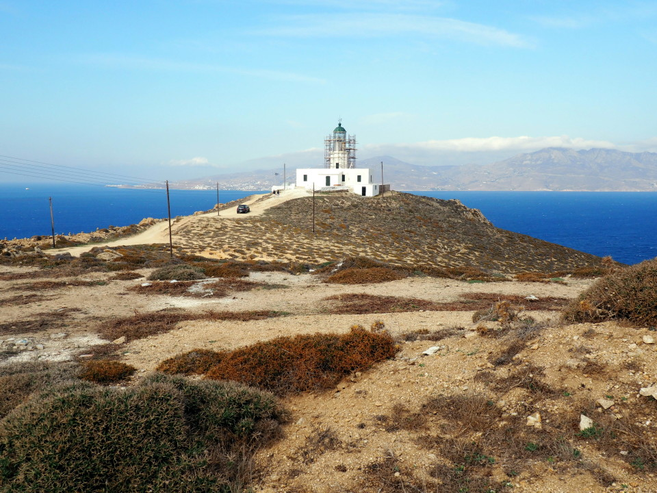 Mykonos-Aussicht-Leuchtturm