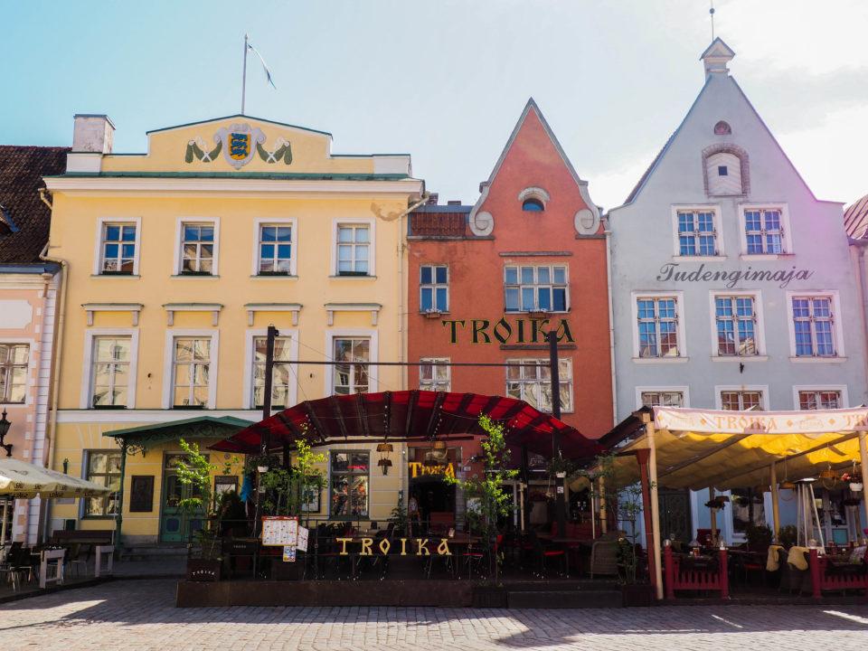 Estland-Tallinn-Marktplatz