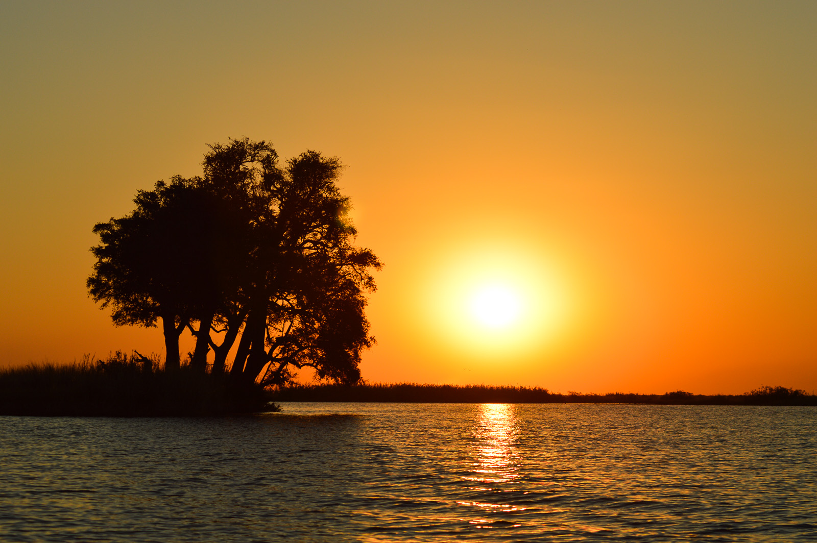 Botswana-Sonnenuntergang