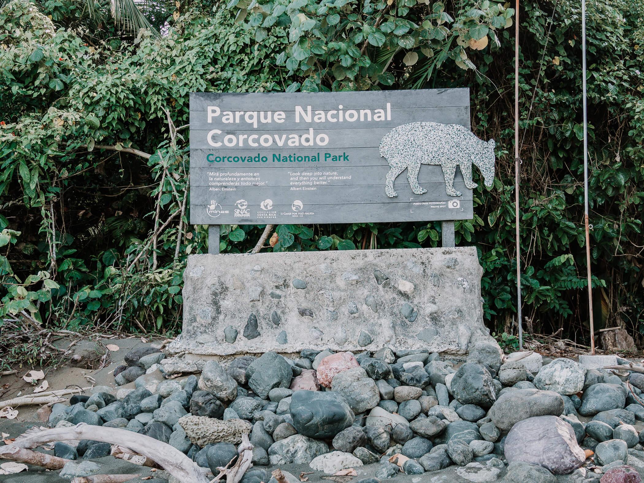 Eingang zum Corcovado Nationalpark