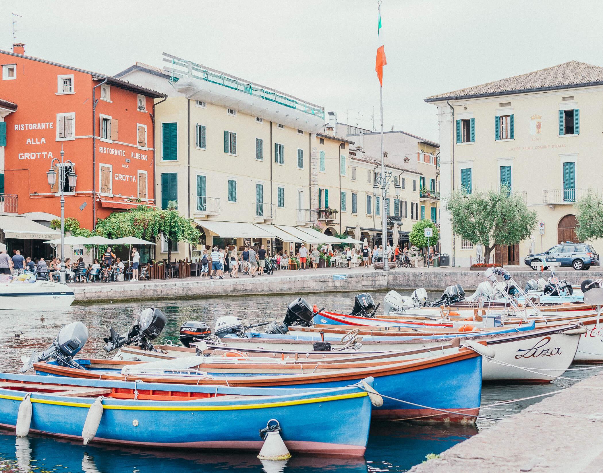 Hafen in Lazise am Gardasee
